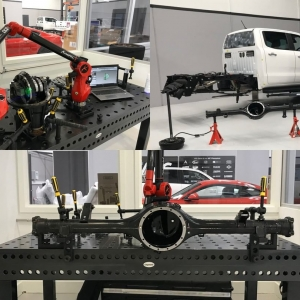Yesterday we used our Kreon 7-axis skyline scanning arm from Lightwave Technology mounted to the Siegmund Jig Table from @moderntoolsaustralia to scan the rear differential of the AIC Ford Ranger PX3.  #wheresmytub #wheelbarrow #3DScanning #kreon7axis #siegmundjigtable #lightwavetechnology